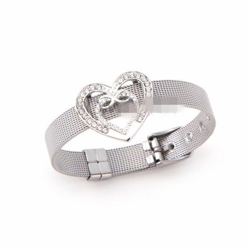 Titanium&Stainless Steel Simple Geometric bracelet  (Steel bracelet) NHSX0380-Steel-bracelet