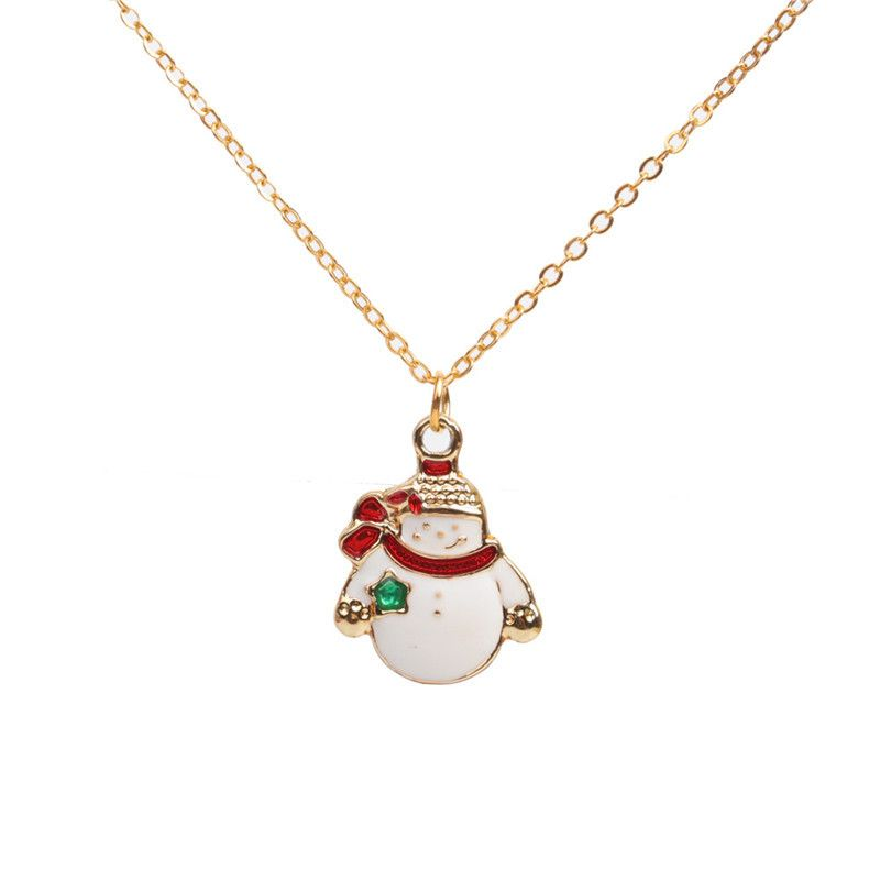 Alloy Fashion Geometric necklace  snowman NHYL0331snowman
