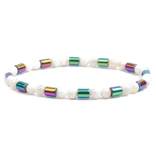 Alloy Fashion Geometric bracelet  (Shell beads) NHYL0335-Shell-beads