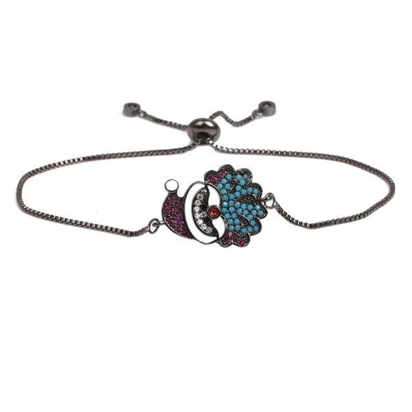 Copper Fashion Geometric bracelet  (Gun black) NHYL0343-Gun-black