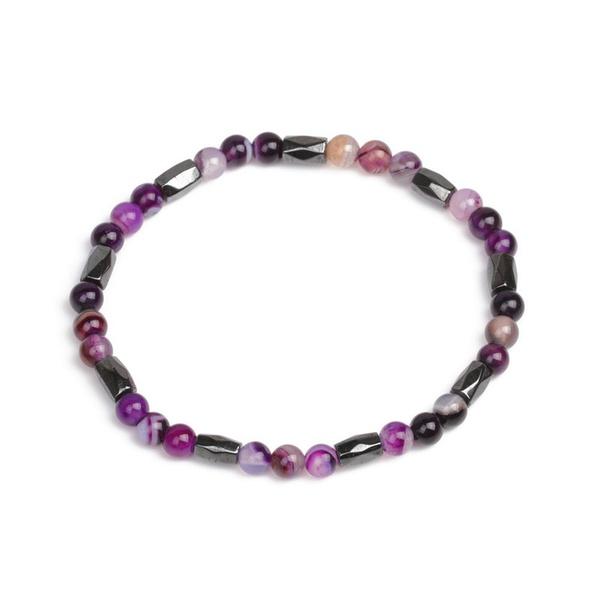 Alloy Fashion Geometric bracelet  (Line agate) NHYL0347-Line-agate