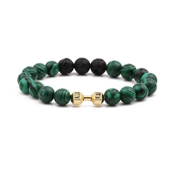 Alloy Fashion Geometric bracelet  (malachite) NHYL0354-malachite