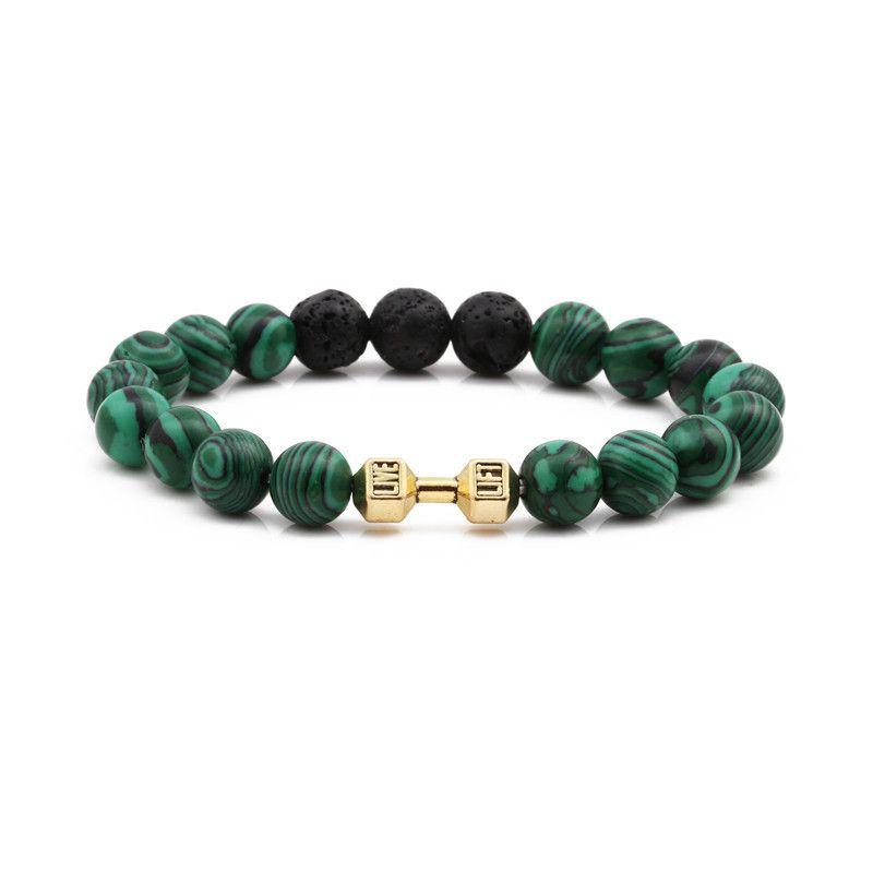 Alloy Fashion Geometric bracelet  malachite NHYL0354malachite
