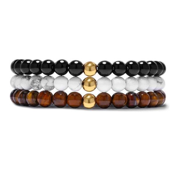 Alloy Fashion Geometric bracelet  (Black stone) NHYL0356-Black-stone