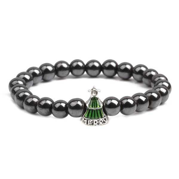 Alloy Fashion Geometric bracelet  (Green christmas tree) NHYL0362-Green-christmas-tree