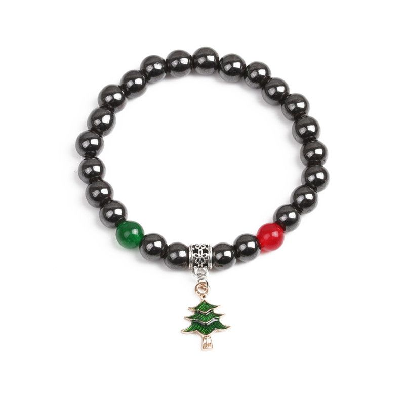 Alloy Fashion Geometric bracelet  (Green christmas tree) NHYL0366-Green-christmas-tree