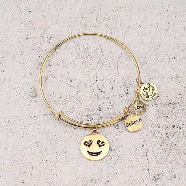 Alloy Fashion Geometric bracelet  (Heart-shaped expression) NHHN0330-Heart-shaped-expression