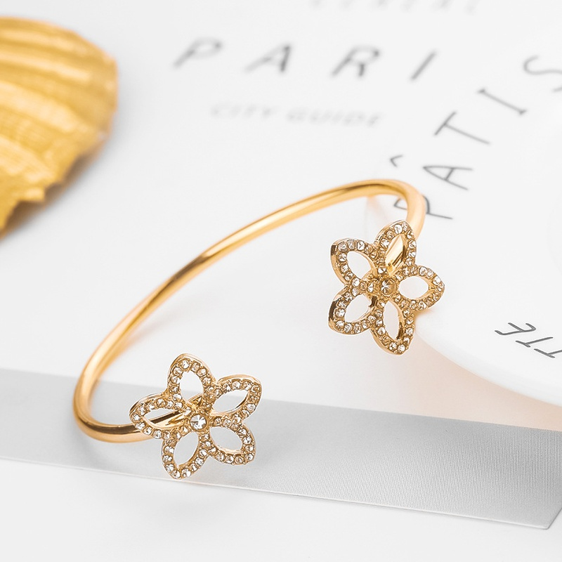 Alloy Fashion Flowers bracelet  (Alloy) NHHN0335-Alloy