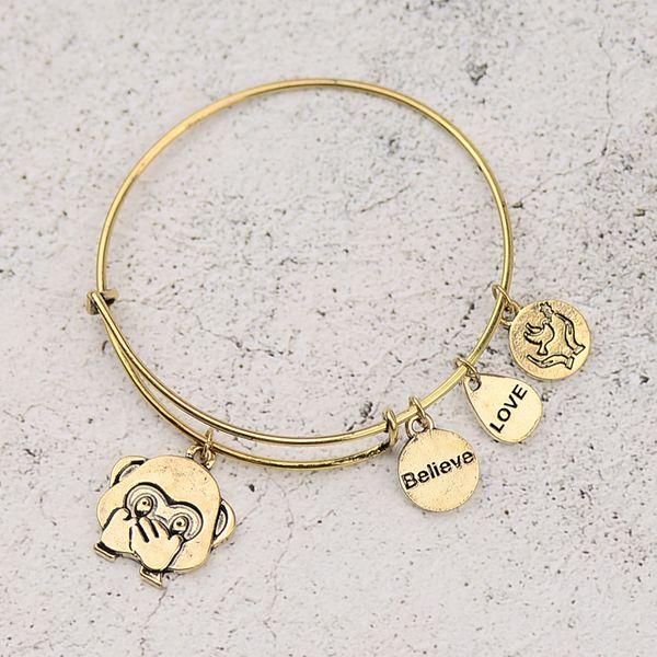 Alloy Fashion Geometric bracelet  (Grinning mouth alloy) NHHN0339-Grinning-mouth-alloy