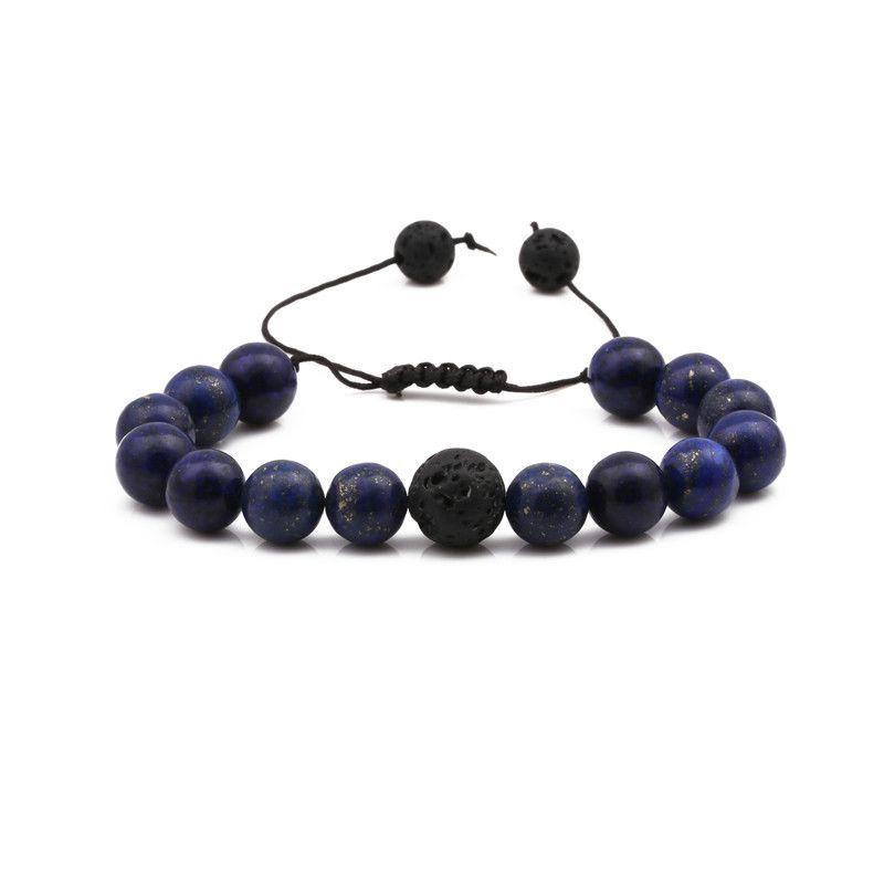 Alloy Fashion bolso cesta bracelet  (Lapis lazuli weaving) NHYL0377-Lapis-lazuli-weaving