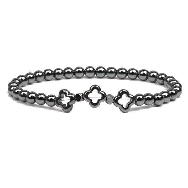 Alloy Fashion Flowers bracelet  (Black gall) NHYL0380-Black-gall