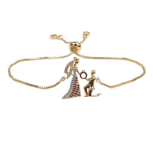 Copper Fashion Geometric bracelet  (Alloy) NHYL0383-Alloy