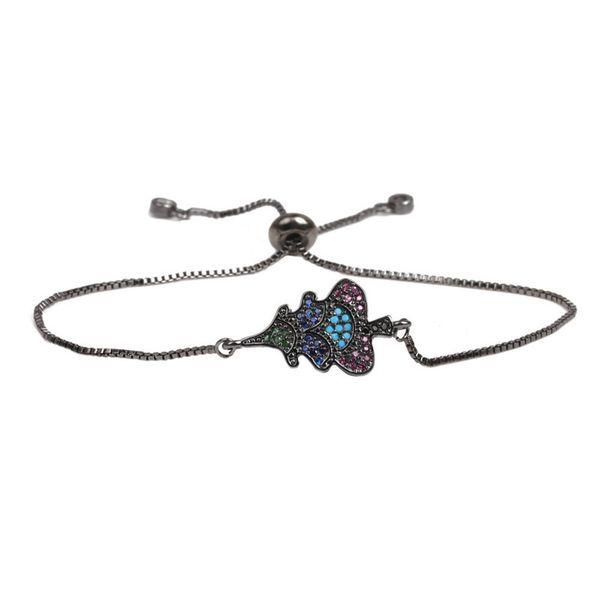 Copper Fashion Geometric bracelet  (Gun black) NHYL0386-Gun-black