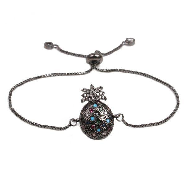 Copper Fashion Geometric bracelet  (Gun black) NHYL0398-Gun-black