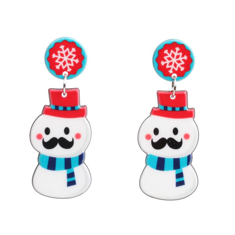 Acrylic Fashion Geometric earring  (Bearded snowman) NHYL0399-Bearded-snowman