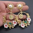 Alloy Vintage Flowers earring  Alloy NHNT0722Alloy