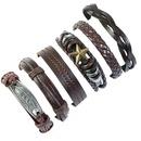 Leather Fashion bolso cesta bracelet  Sixpiece set NHPK2176Sixpieceset