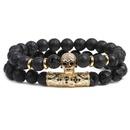 Natural Stone Fashion Skeleton Skull bracelet  Green pine suit NHYL0384Greenpinesuit