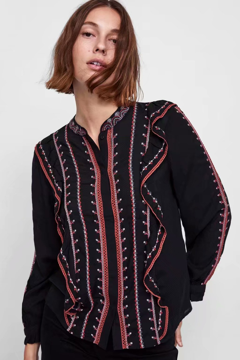 Cotton Fashion  shirt  (Black-s) NHAM6662-Black-s