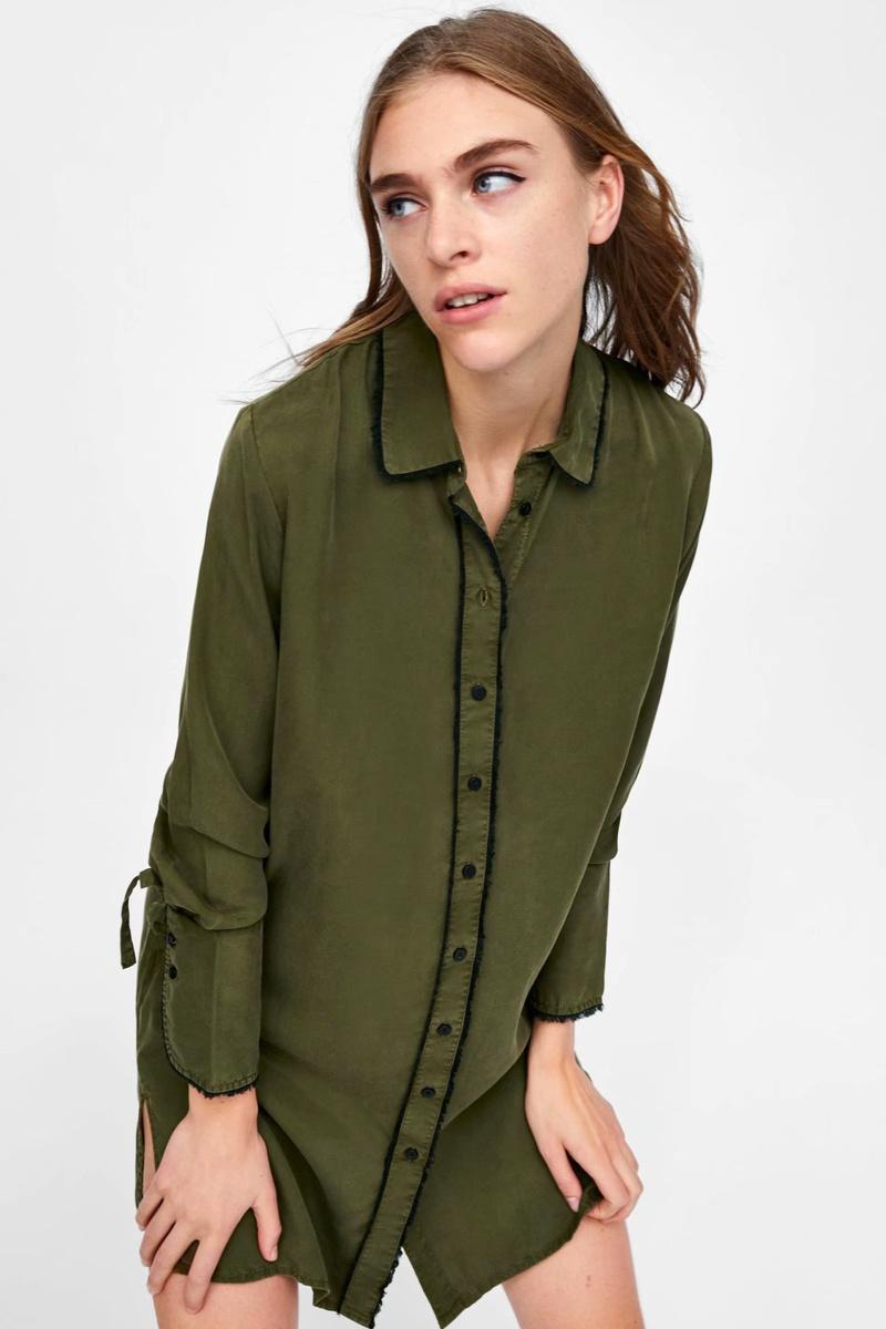 Polyester Fashion  skirt  (Army Green-L) NHAM6682-Army-Green-L