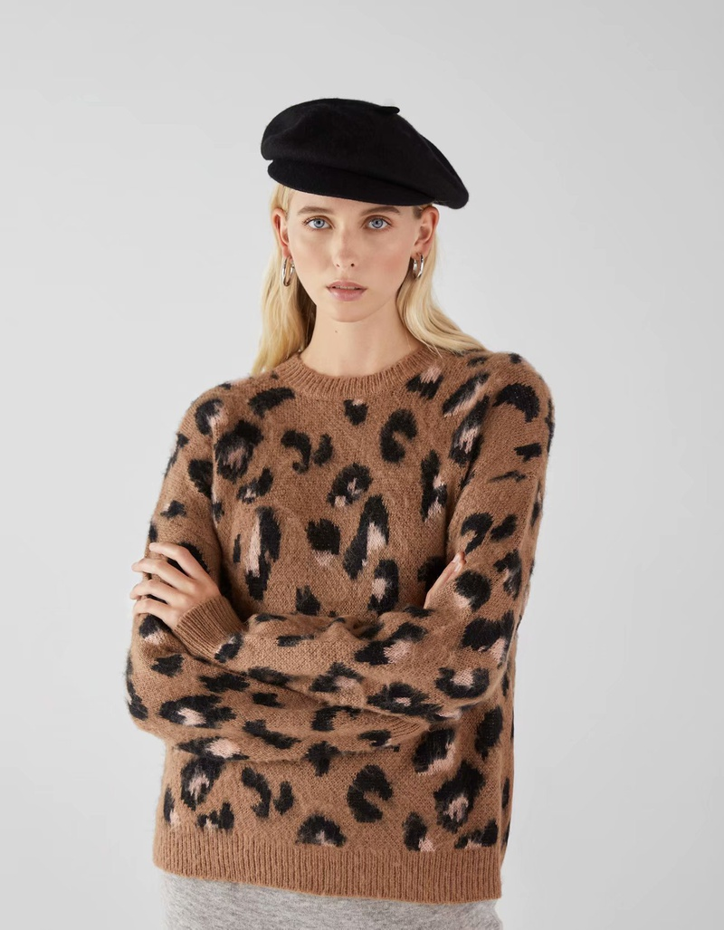 Polyester Fashion  Sweater  (Brown-L) NHAM6701-Brown-L