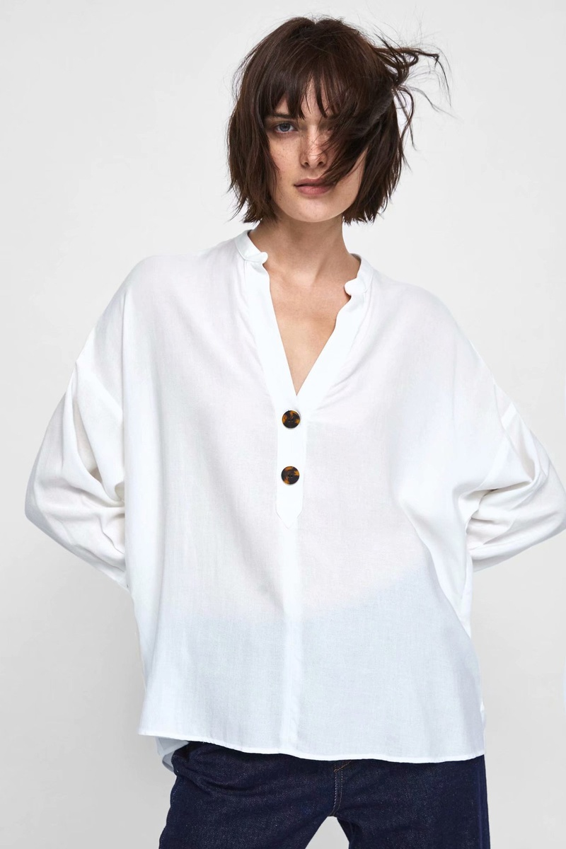 Cotton Fashion  coat  (white-XS) NHAM6715-white-XS