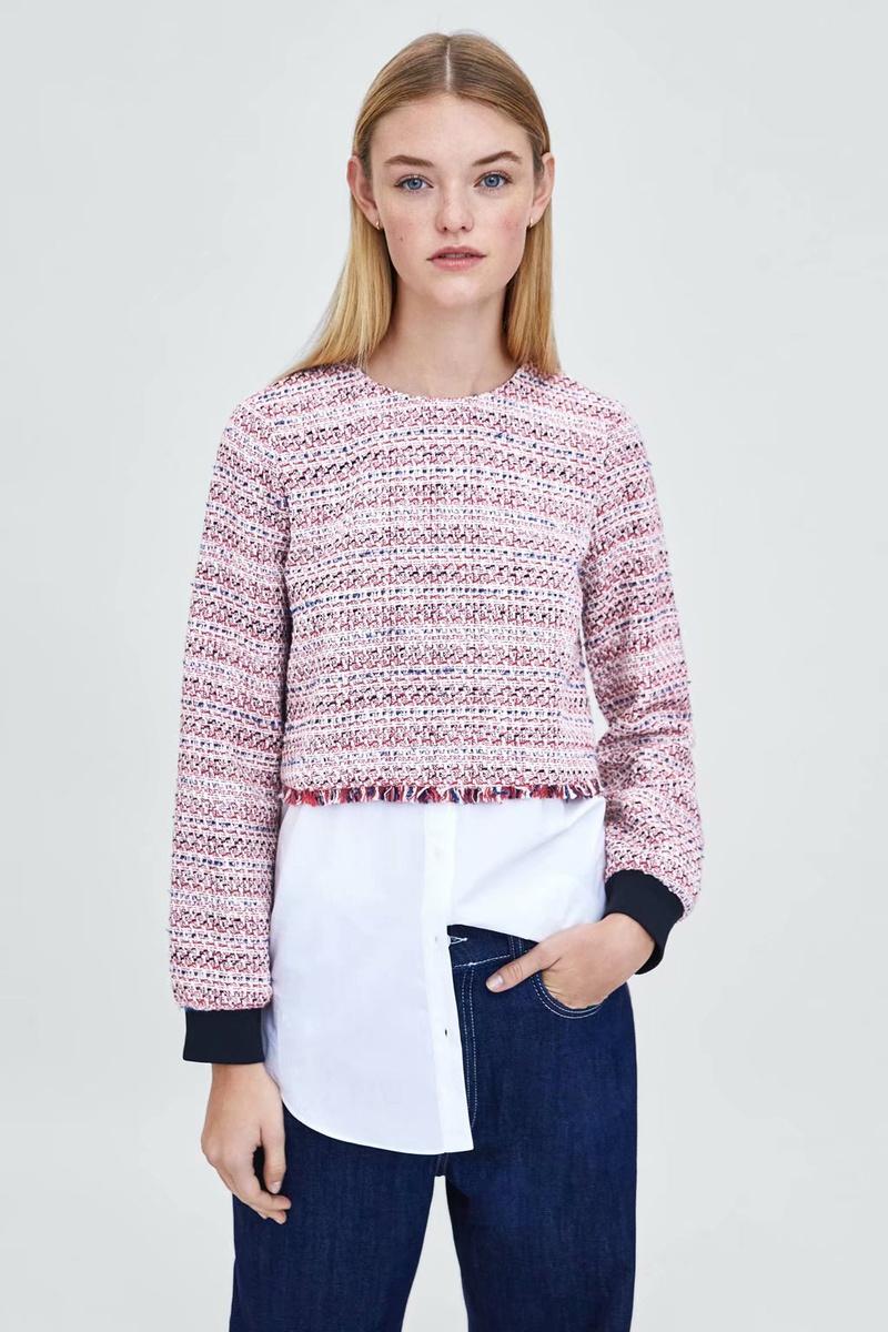 Polyester Fashion  coat  (Pink-L) NHAM6730-Pink-L