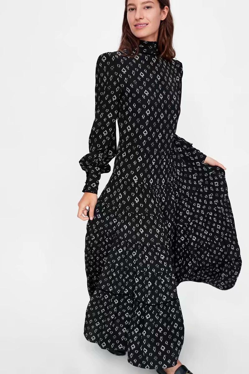 Chiffon Fashion  skirt  (black-L) NHAM6731-black-L