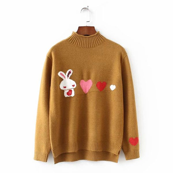 Polyester Fashion  Sweater  (Yellow - one size) NHAM6741-Yellow-one-size