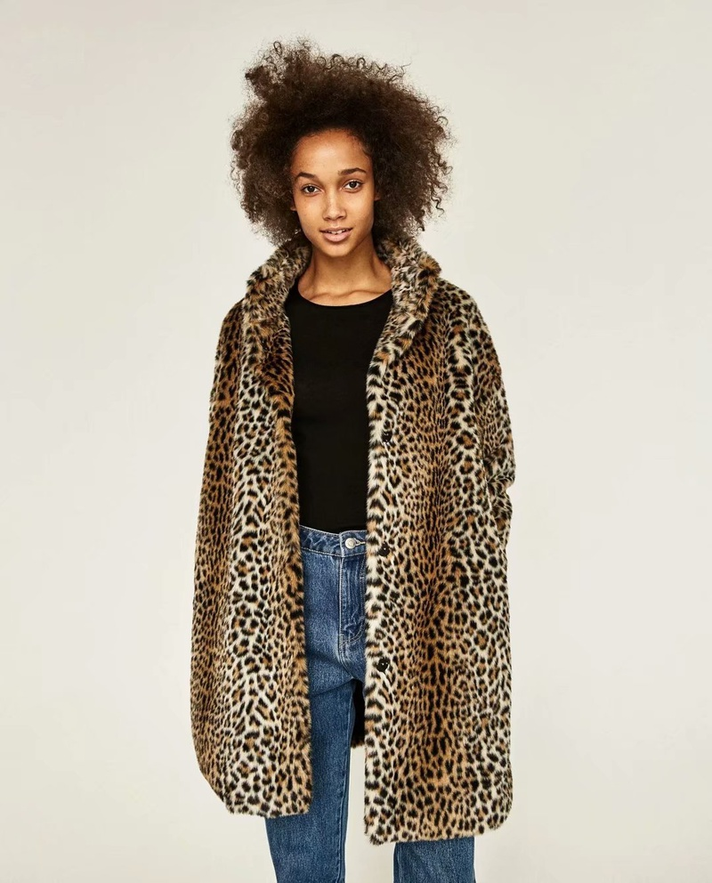 Cloth Fashion  coat  (Leopard-S) NHAM6764-Leopard-S