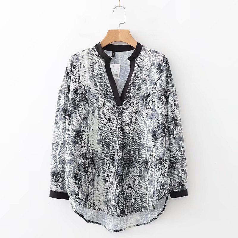 Chiffon Fashion  shirt  (Picture color-S) NHAM6765-Picture-color-S