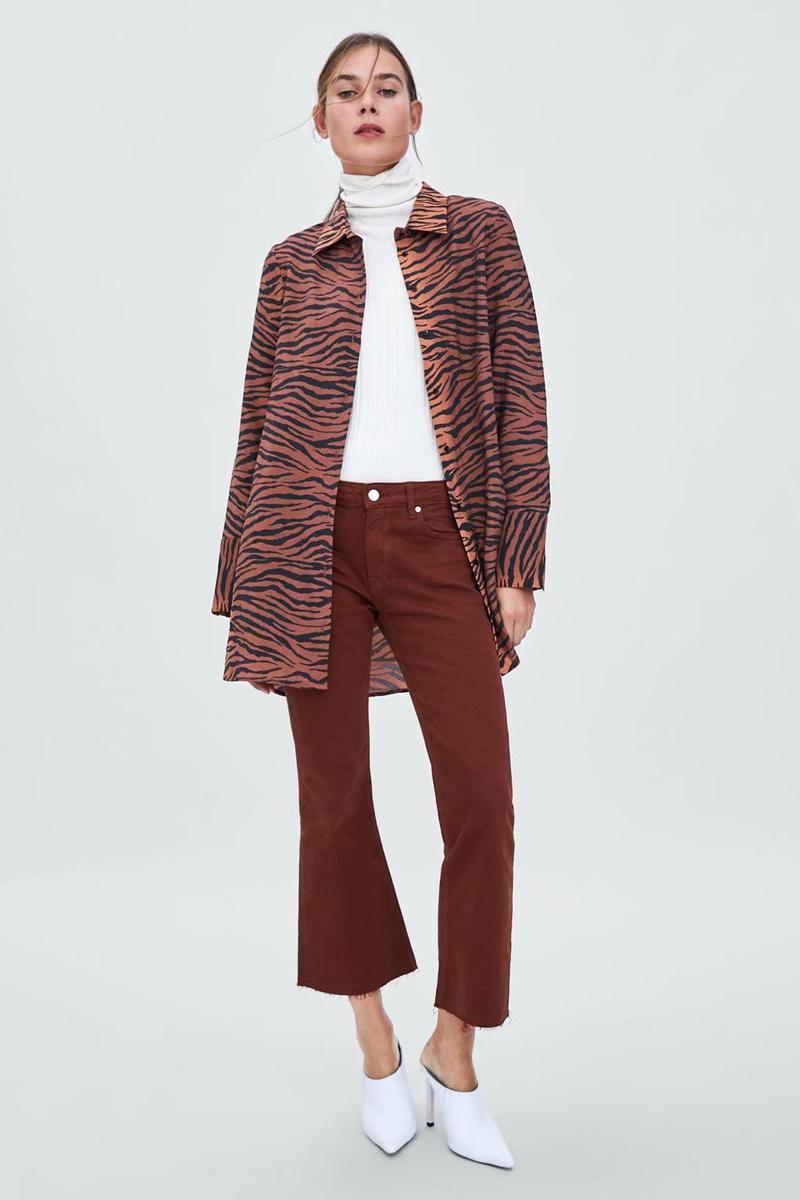 Polyester Fashion  shirt  (Tiger skin pattern-S) NHAM6766-Tiger-skin-pattern-S