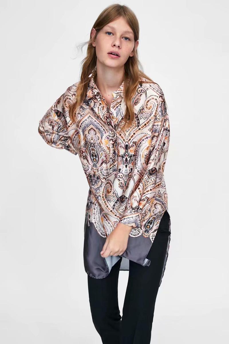 Chiffon Fashion  shirt  (Picture color - M) NHAM6782-Picture-color-M