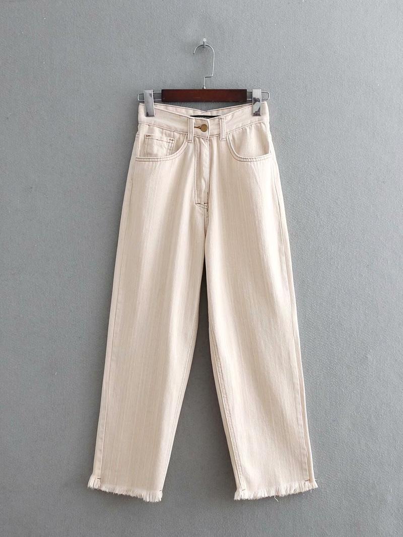 Cotton Fashion  pants  (White-M) NHAM6786-White-M