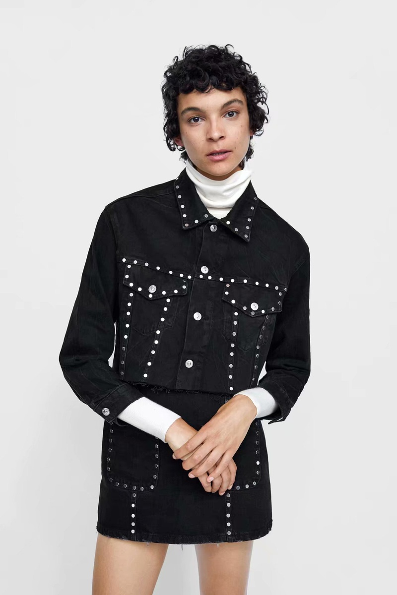 Polyester Fashion  coat  (Black-s) NHAM6788-Black-s