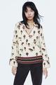 Chiffon Fashion  coat  (White-S) NHAM6716-White-S