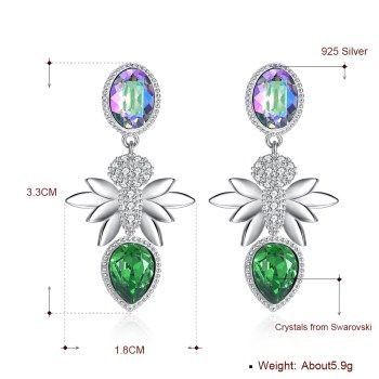 Platinum Plated  Drop Earrings NHKL13429-A