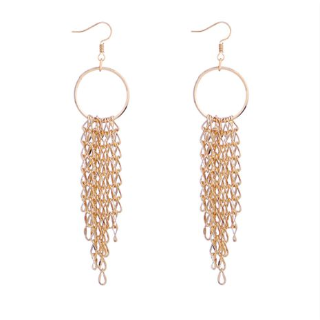 Korean version of the trendy creative ring tassel earrings NHNPS5352's discount tags