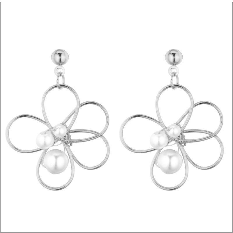 Korean version of the Sen personality sweet little cherry beads earrings (like platinum) NHNPS5369