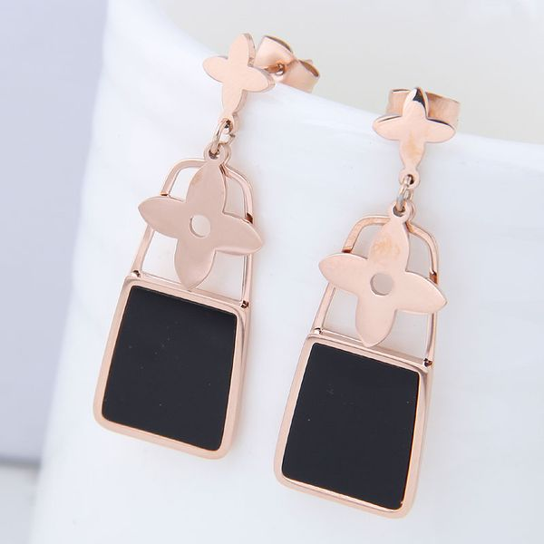Titanium&Stainless Steel Fashion earring NHNSC14108