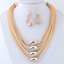 Alloy Fashion necklace NHNSC14080