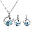 Austrian Imitated crystal Set  Holy Swan Sea Blue NHKSE29601