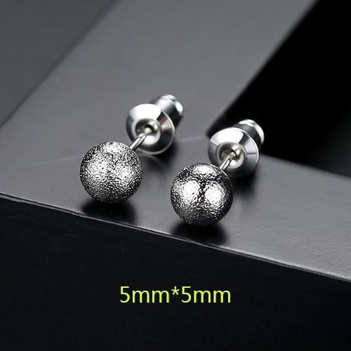 Alloy Simple Geometric earring  (5mm-T01H19) NHTM0455-5mm-T01H19