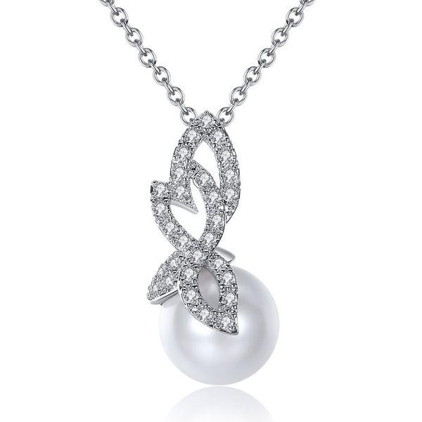 Alloy Fashion Geometric necklace  (White-T10D19) NHTM0464-White-T10D19