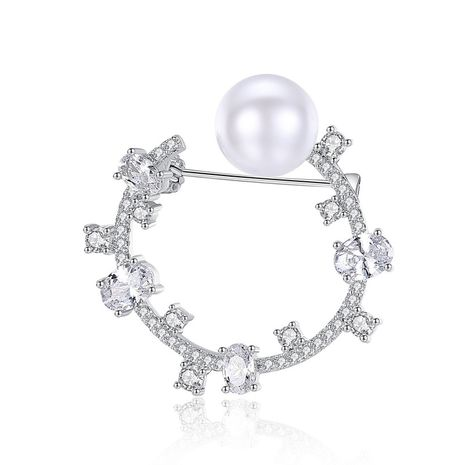 Alloy Fashion Geometric brooch  (Platinum-20H08) NHTM0474-Platinum-20H08's discount tags