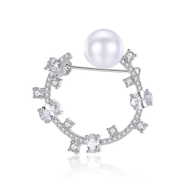 Alloy Fashion Geometric brooch  (Platinum-20H08) NHTM0474-Platinum-20H08