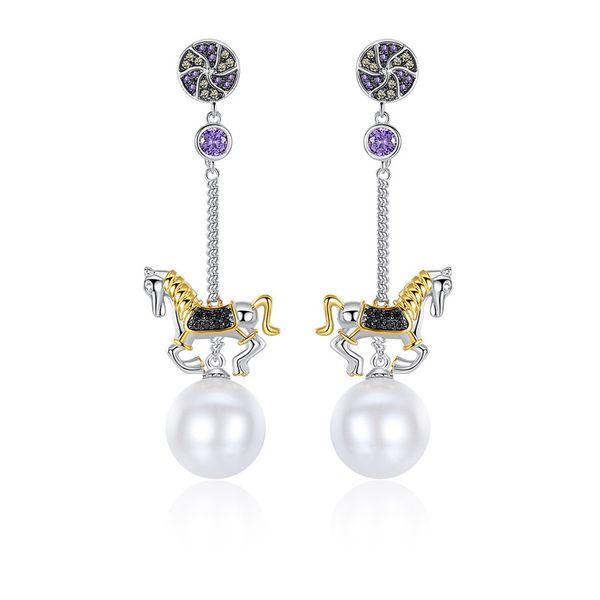 Alloy Korea Geometric earring  (Platinum-T07A15) NHTM0477-Platinum-T07A15