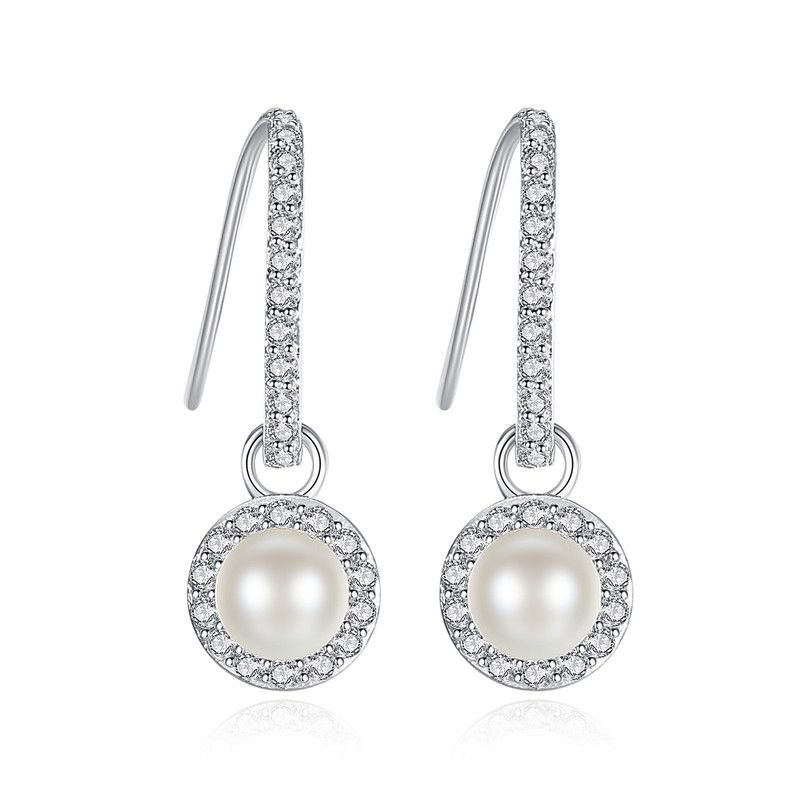 Alloy Simple Geometric earring  (Platinum-T08A11) NHTM0481-Platinum-T08A11