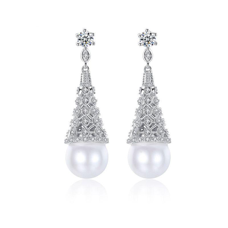 Alloy Korea Geometric earring  (Platinum-T07A17) NHTM0482-Platinum-T07A17
