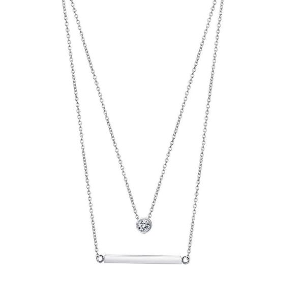 Alloy Simple Geometric necklace  (Platinum-T10E18) NHTM0488-Platinum-T10E18